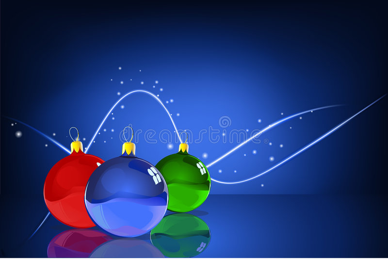 Шарики рождества бесплатная иллюстрация
