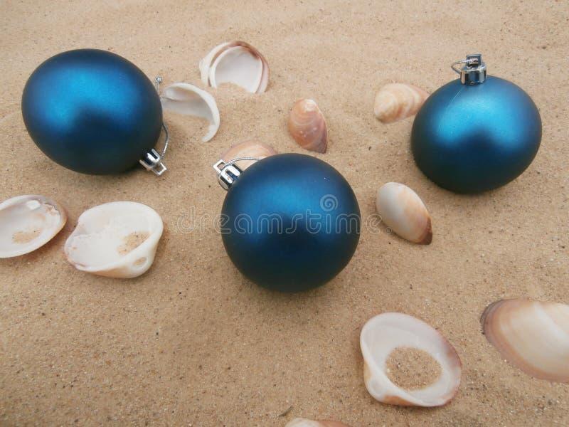 Шарики рождества голубые стоковая фотография