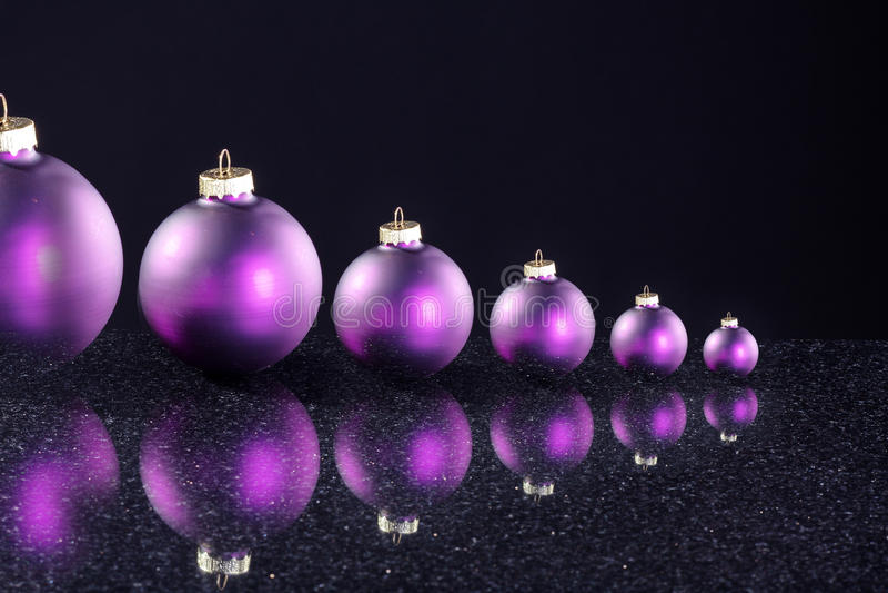 Шарики рождества с украшением стоковые изображения rf