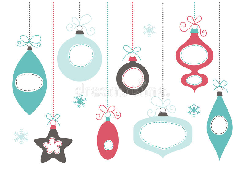 Шарики рождественской елки иллюстрация штока