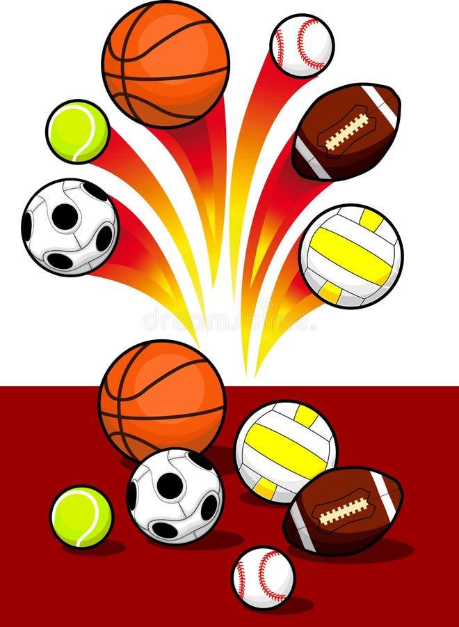 Шарики спорта иллюстрация вектора