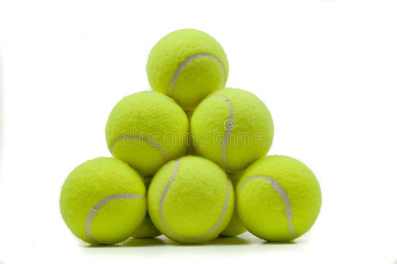 шарики штабелировали теннис стоковая фотография rf
