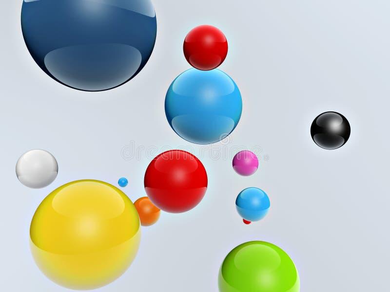 шарики 3d цветастые бесплатная иллюстрация