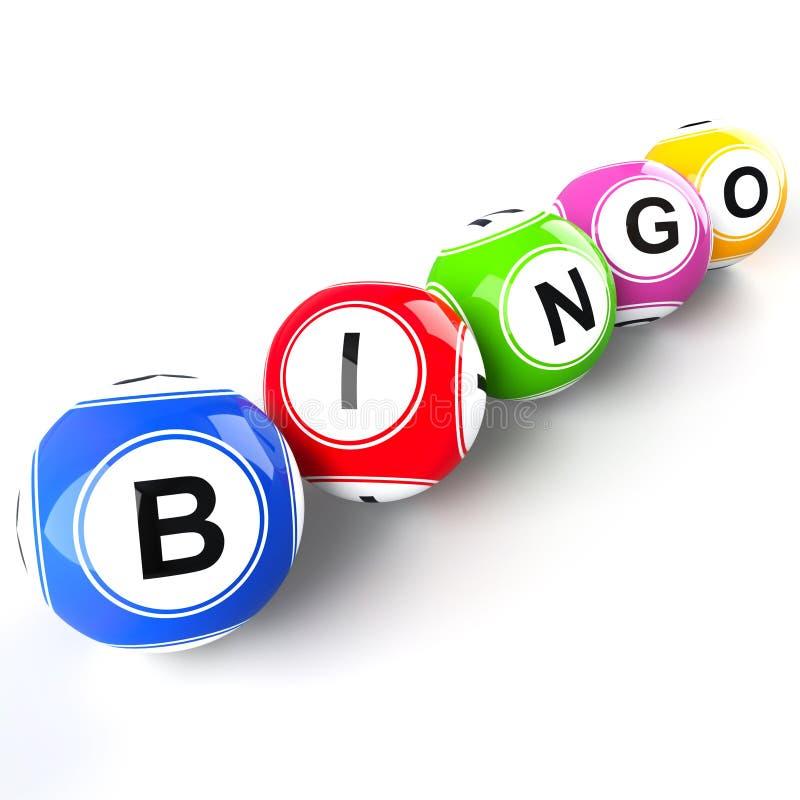 Шарики Bingo иллюстрация штока
