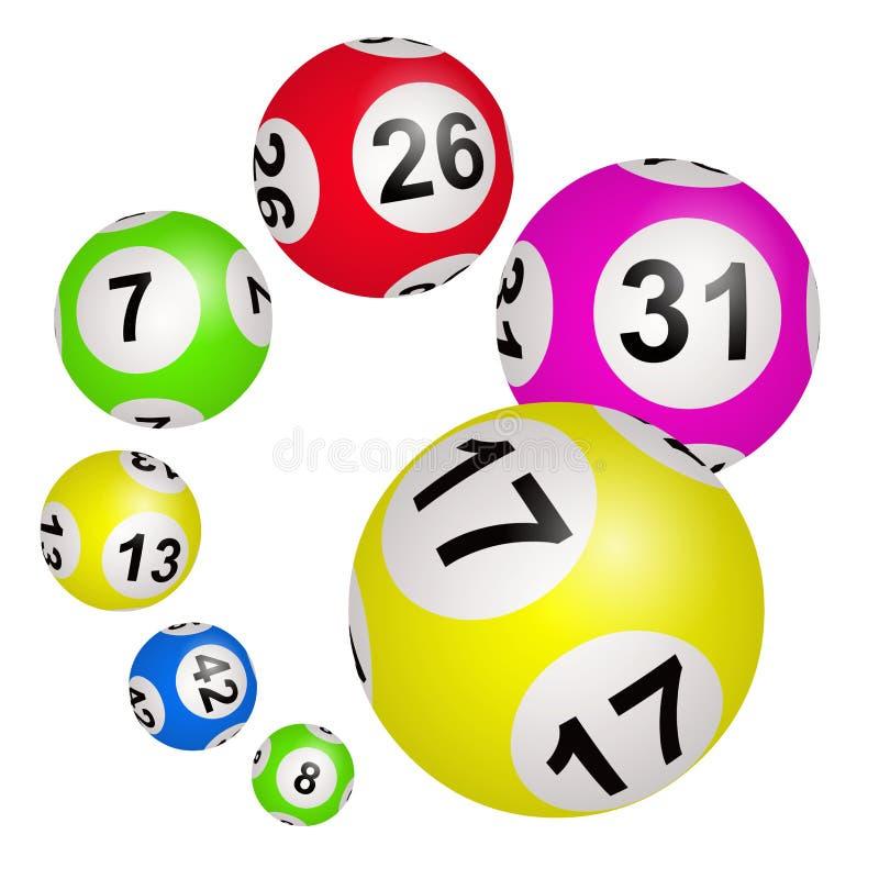 Шарики Lotto на белой предпосылке иллюстрация штока