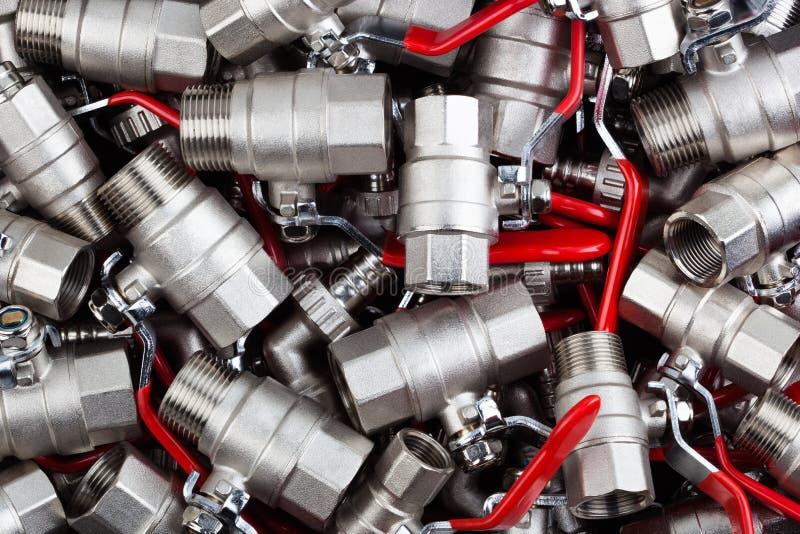 Шариковые клапаны воды стоковая фотография rf