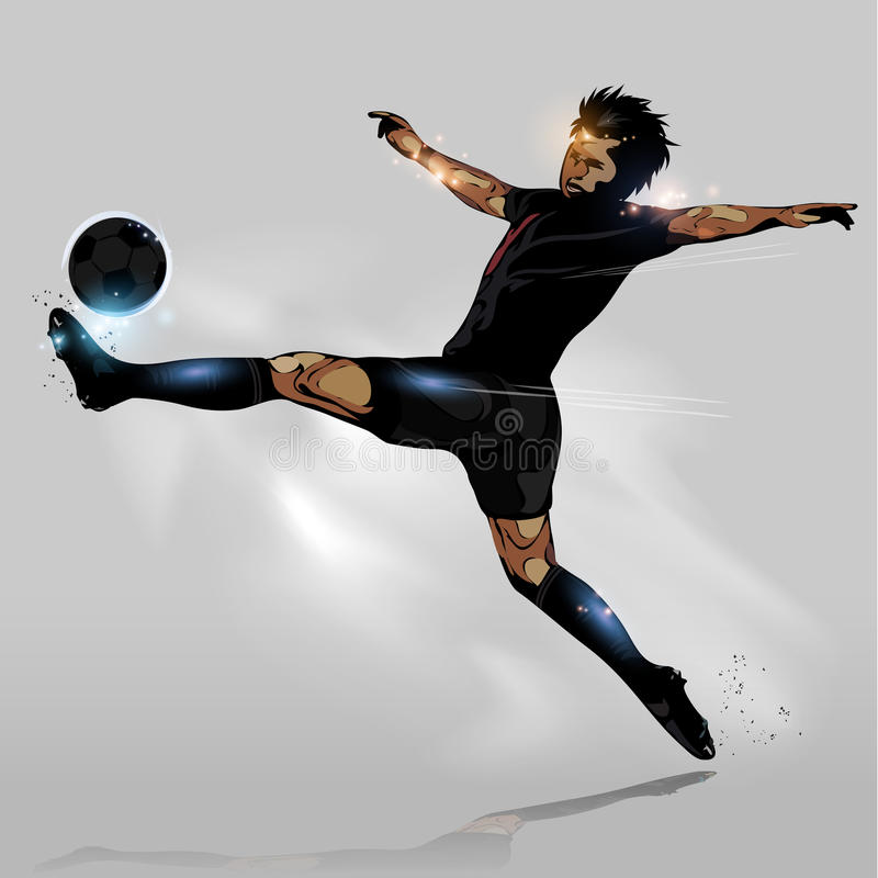 Шарик абстрактного футбола касающий бесплатная иллюстрация