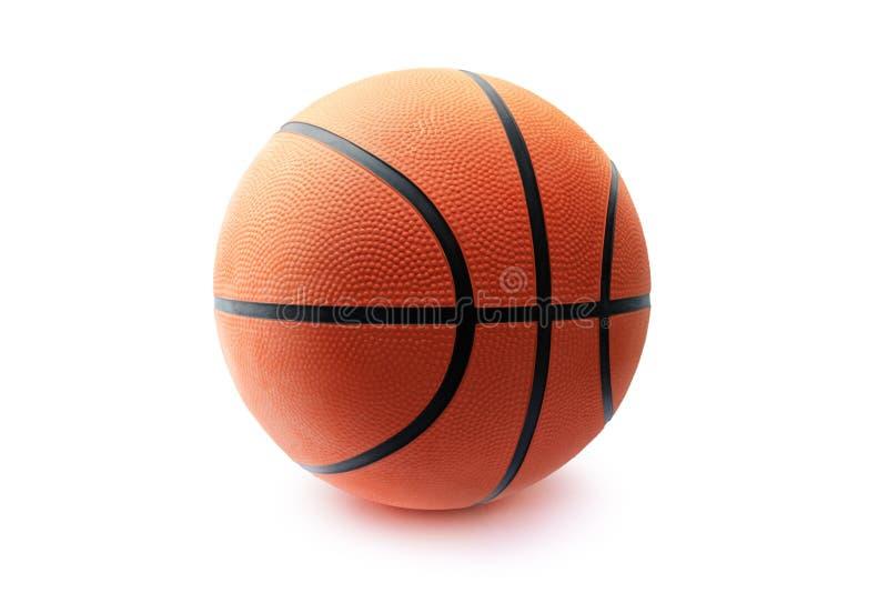 Шарик баскетбола изолированный в белой предпосылке стоковое изображение