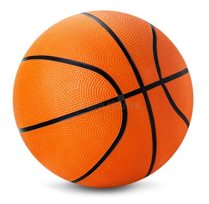 Шарик баскетбола изолированный на белой предпосылке стоковое изображение rf