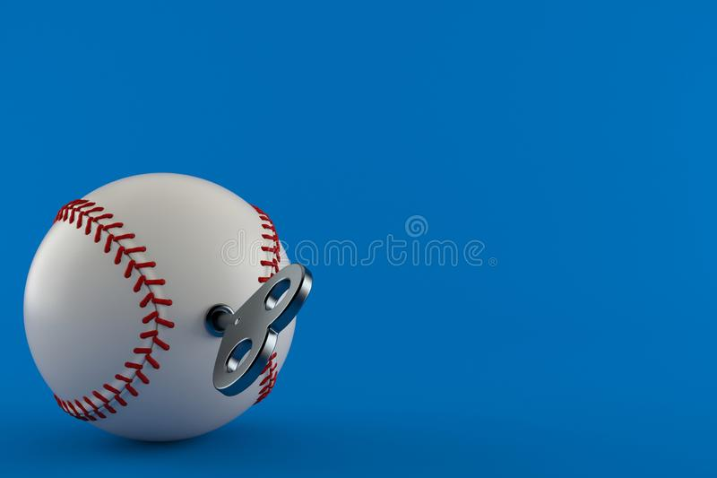 Шарик бейсбола с ключом clockwork бесплатная иллюстрация