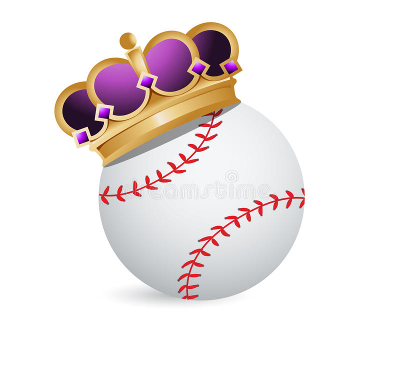Шарик бейсбола с кроной бесплатная иллюстрация