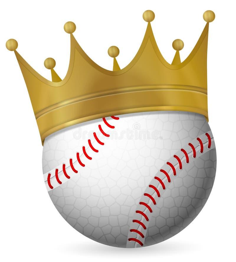 Шарик бейсбола с кроной иллюстрация штока