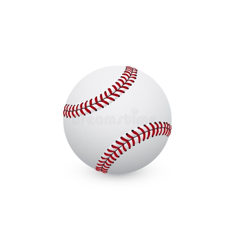Шарик бейсбола иллюстрация вектора