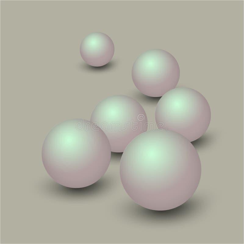 шарик вектора 3d иллюстрация вектора