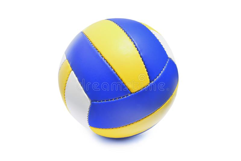 Шарик волейбола изолированный в белой предпосылке стоковое фото rf