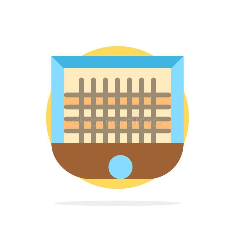 Шарик, ворота, стойка ворот, сеть, предпосылки круга футбола значок цвета абстрактной плоский иллюстрация штока
