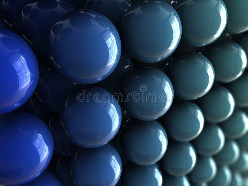 шарик голубой s иллюстрация вектора