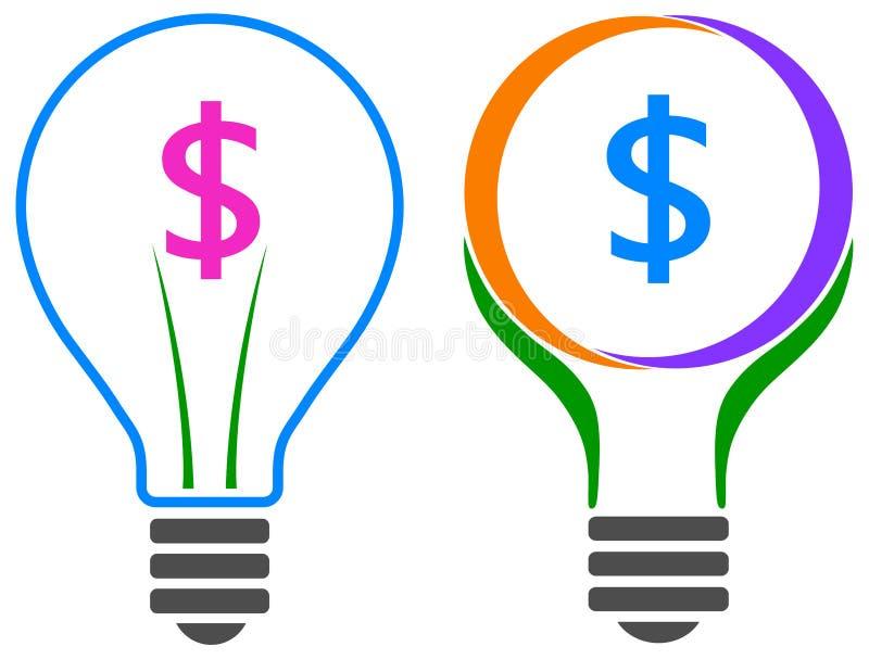 Шарик доллара иллюстрация штока