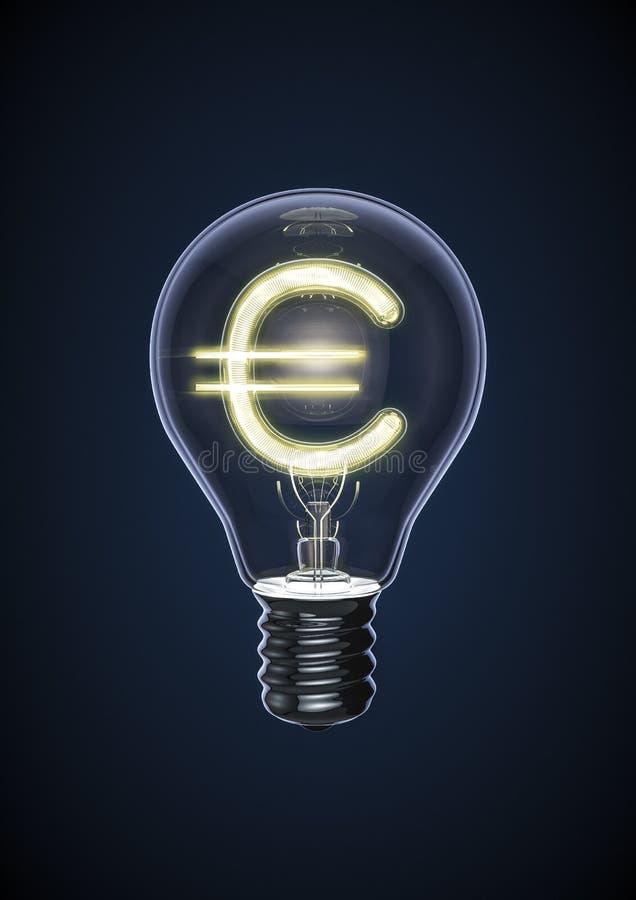 Шарик евро иллюстрация вектора