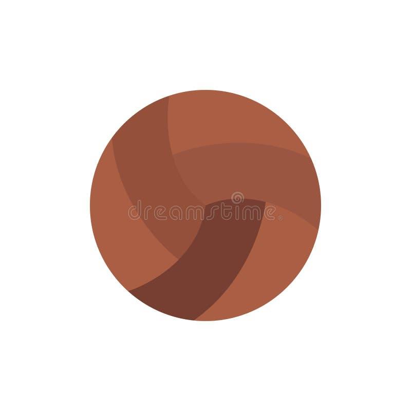 Шарик, залп, волейбол, значок цвета спорта плоский Шаблон знамени значка вектора бесплатная иллюстрация