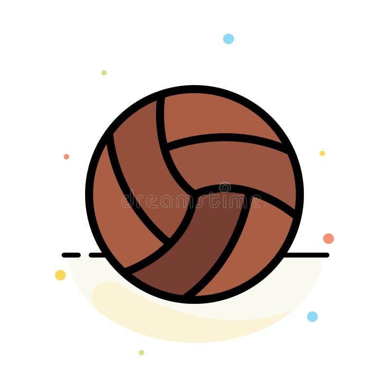 Шарик, залп, волейбол, шаблон значка цвета конспекта спорта плоский бесплатная иллюстрация