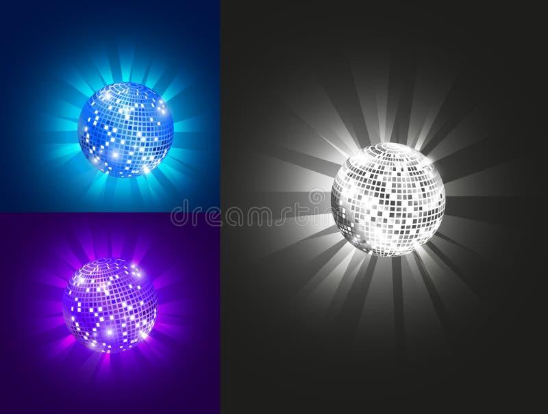 Шарик диско, комплект, вектор, eps 10 иллюстрация штока