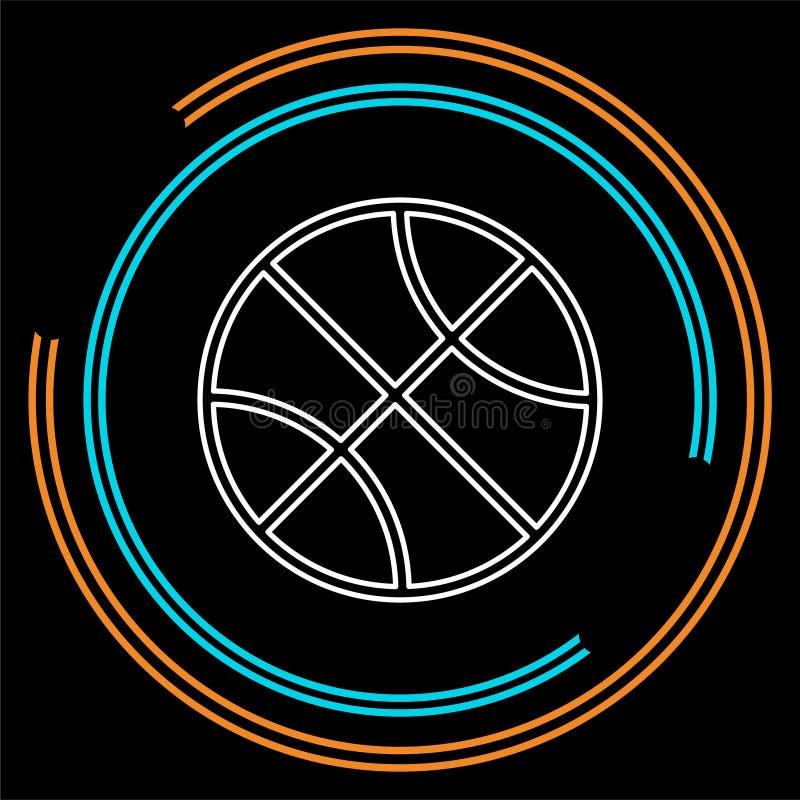 Шарик корзины вектора - баскетбол вектора бесплатная иллюстрация