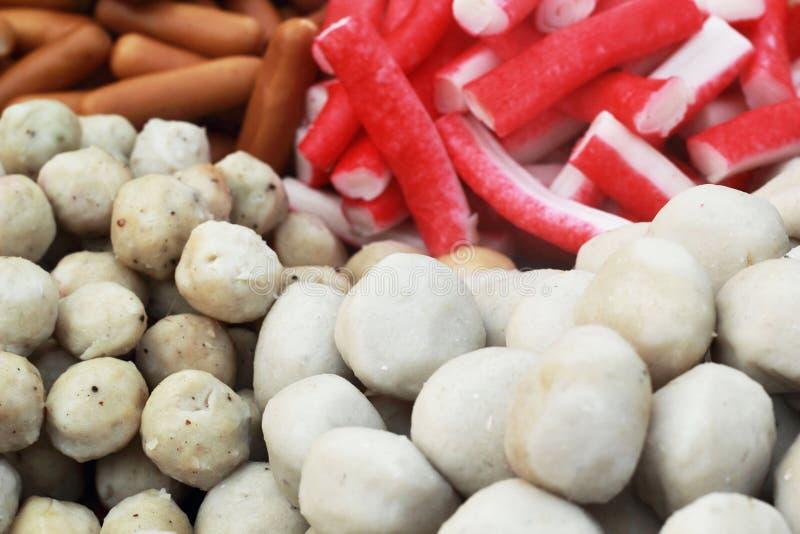 Шарик мяса смешивания в рынке стоковое изображение rf