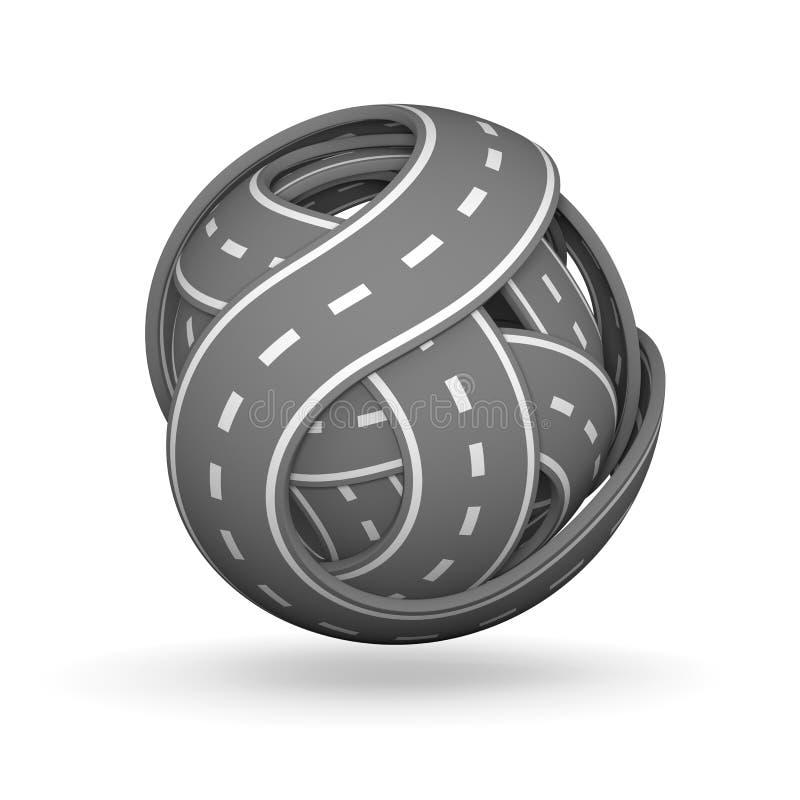 Шарик дорог иллюстрация вектора