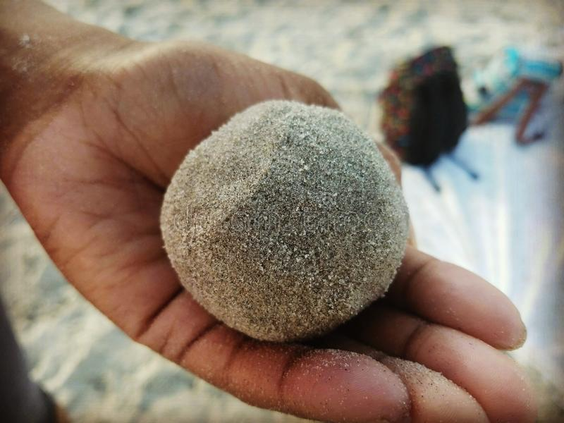 Шарик песка стоковые фотографии rf