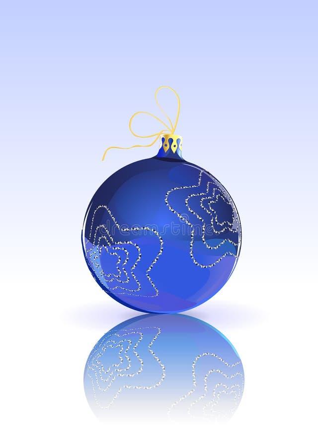 Шарик рождества иллюстрация вектора