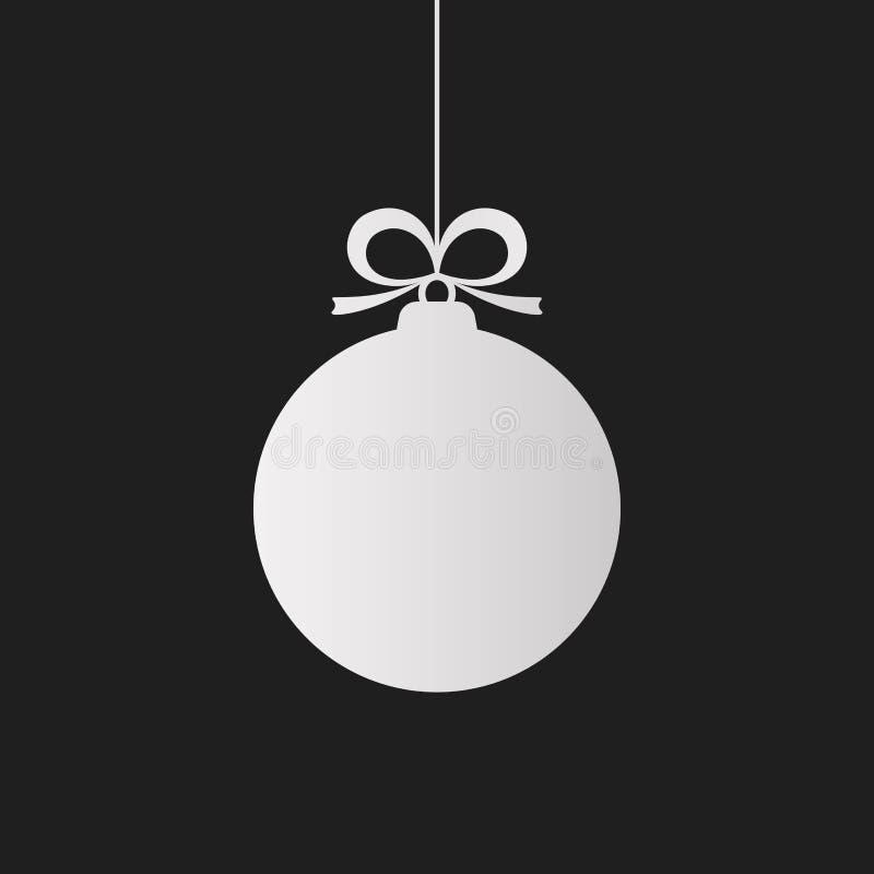 Шарик рождества, значок. иллюстрация штока