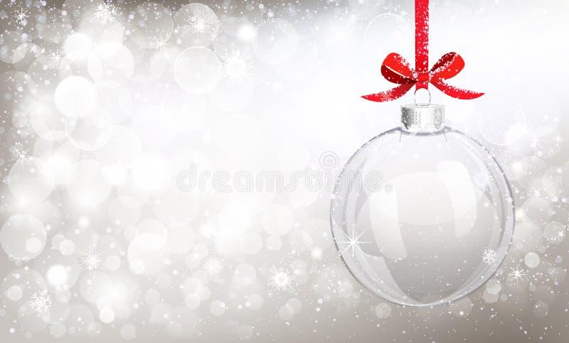 Шарик рождества стеклянный иллюстрация вектора