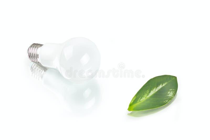 Шарик СИД белого нововведения энергосберегающий, зарев-лампа, сушит и fres стоковое фото