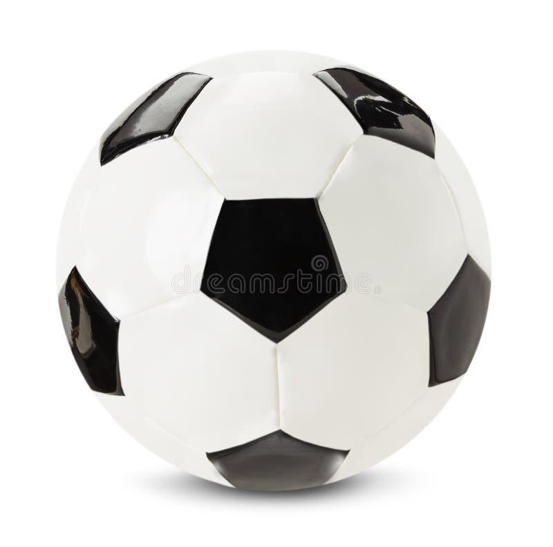 Шарик футбола изолированный на белой предпосылке стоковые фотографии rf