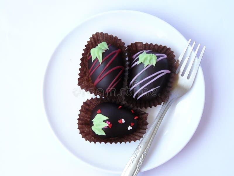 Шарик шоколада трио стоковое изображение