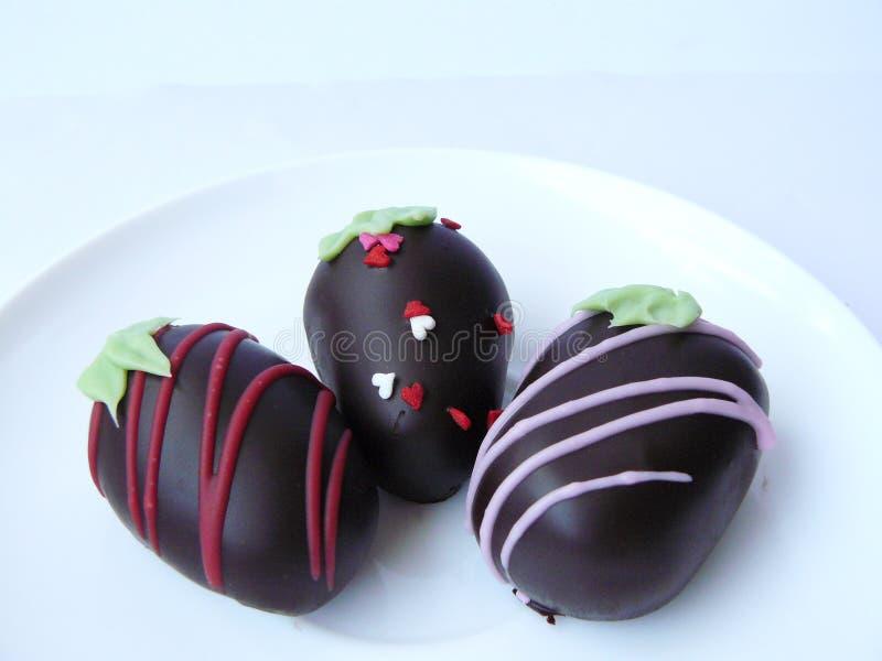 Шарик шоколада трио стоковое изображение rf