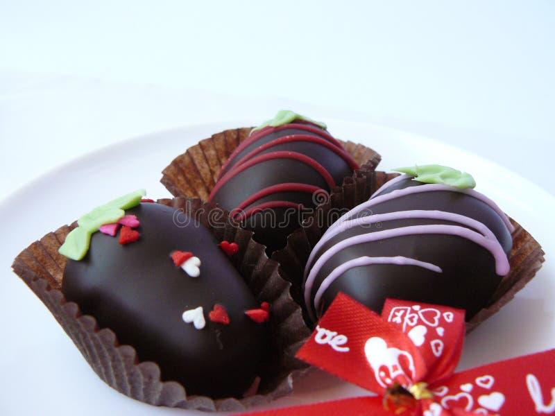 Шарик шоколада трио стоковые изображения