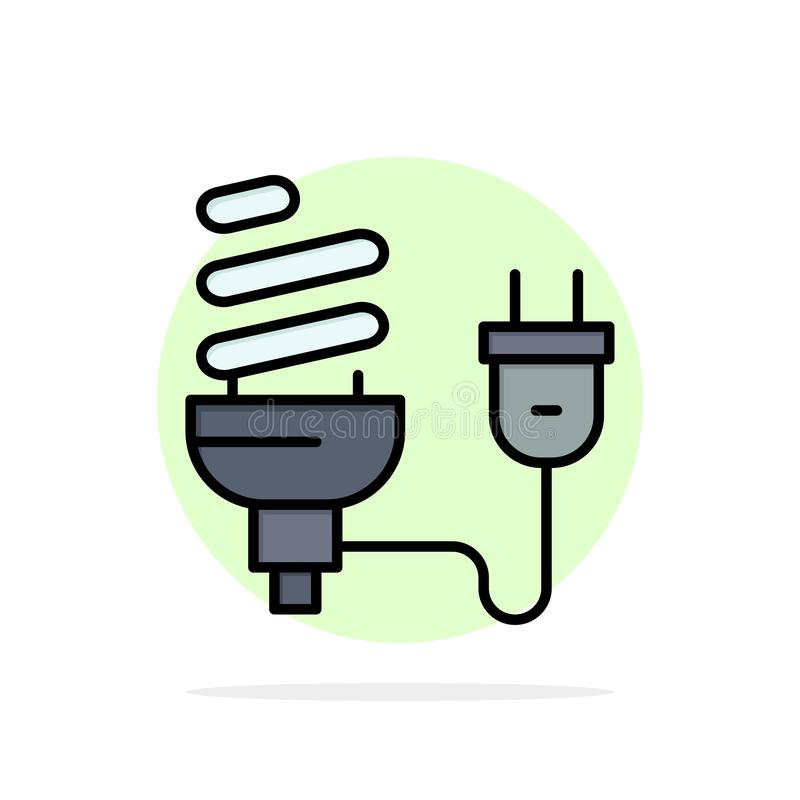 Шарик, экономический, электрический, энергия, электрическая лампочка, значок цвета предпосылки круга конспекта штепсельной вилки  иллюстрация вектора
