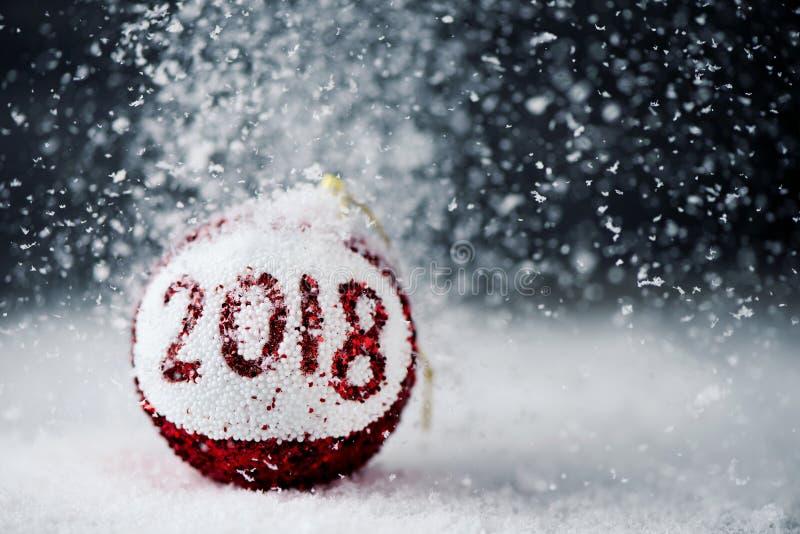 Шарик Chritmas с 2018 стоковые изображения