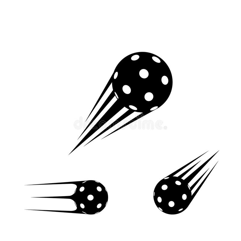 Шарик Floorball для логотипа команда и чашка иллюстрация вектора