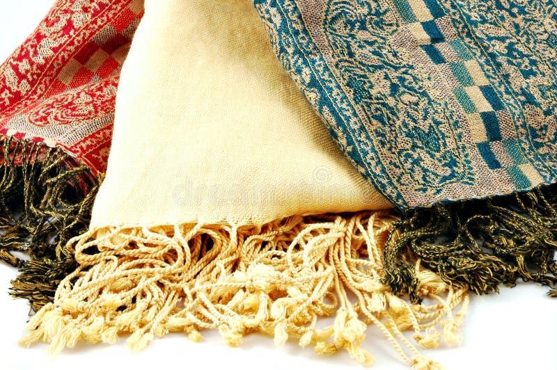 шарфы pashmina стоковое фото