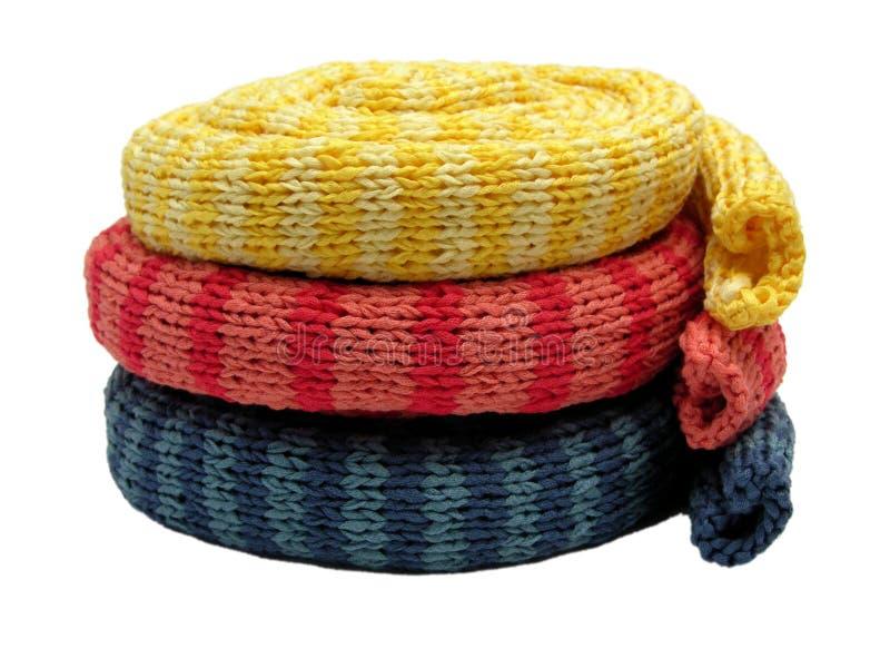 шарфы striped 3 стоковые изображения