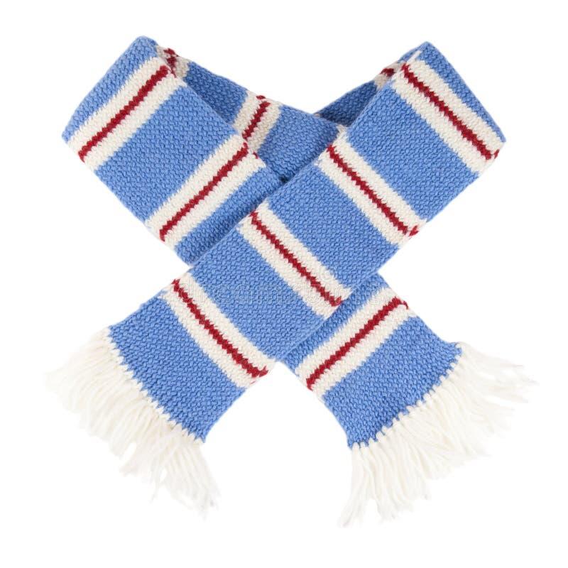 шарф изолированный шлемом связанный stripes теплое стоковое фото rf