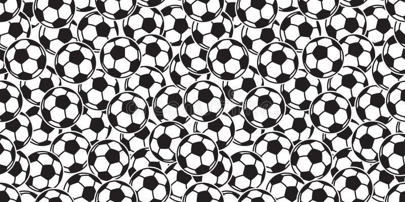 Шарф предпосылки плитки спорта футбола вектора картины футбольного мяча безшовный изолировал обои повторения иллюстрация вектора