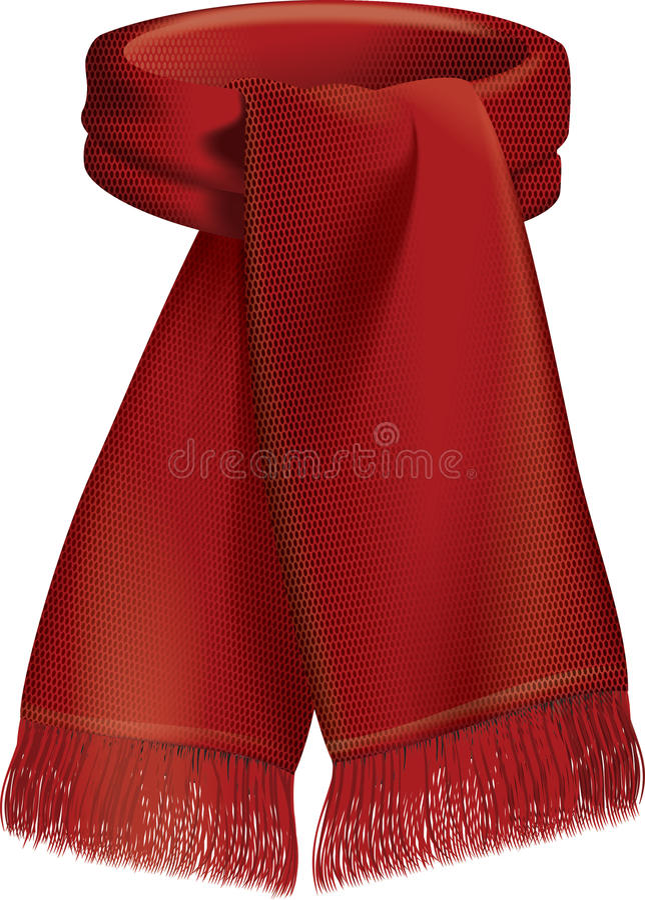 шарф иллюстрация вектора