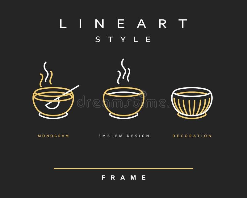 Шары значка для еды Ресторан и бар меню дизайна иллюстрация штока