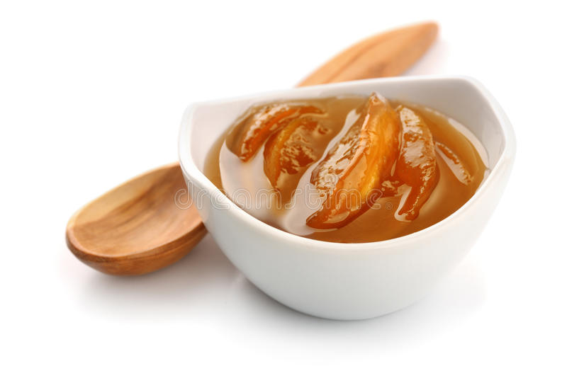Шар варенья персика стоковые изображения rf