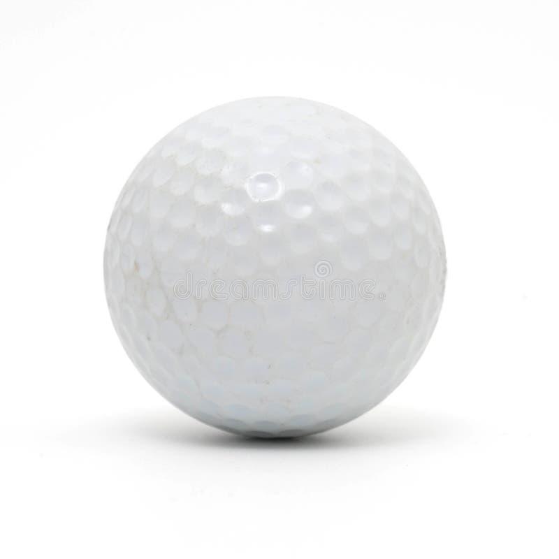 шар для игры в гольф изолированный на белизне стоковая фотография rf