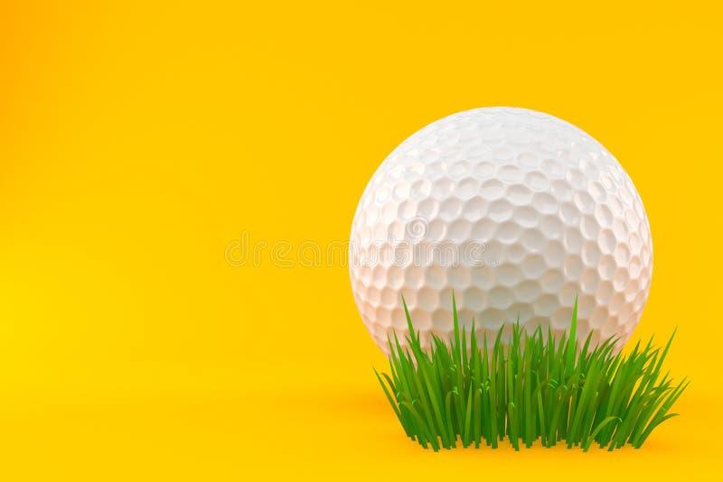 Шар для игры в гольф на траве иллюстрация штока
